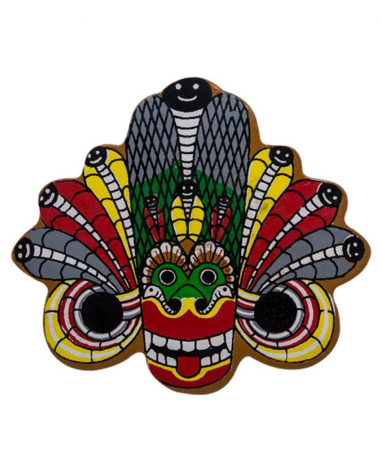 wooden magnet ceylon traditional masks