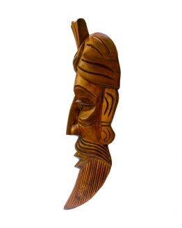 wooden Brahmin face mask